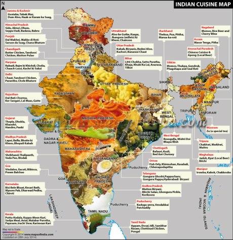 Indian Regional Food Map