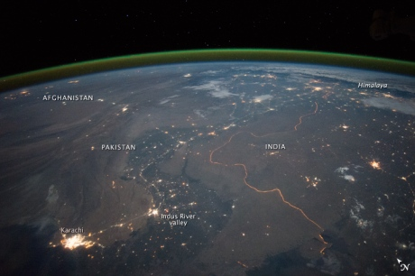 Indo-Pak border from space by NASA