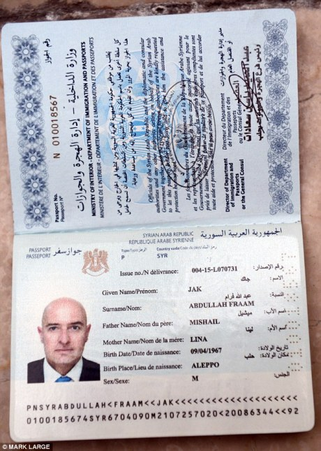 Black market Syrian passport