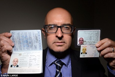 Reporter with black market Syrian identity papers.