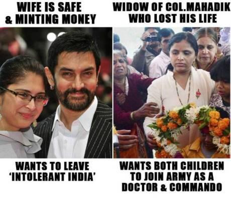 Aamir Khan vs. Col Mahadik's Wife & Children
