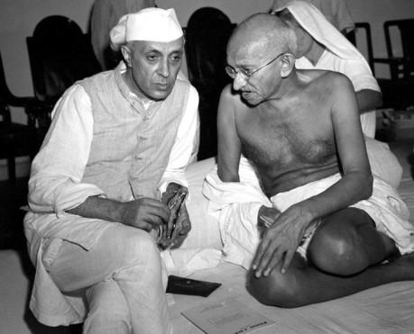 Nehru & Gandhi (1942)