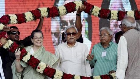 Sonia, Nitish & Lalu