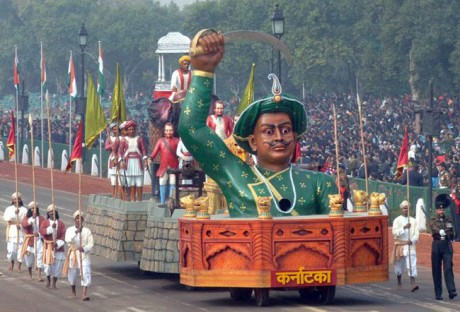 Tipu Sultan, Karnataka, Republic Day Tableau 2014