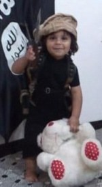 ISIS child about to behead Teddy!