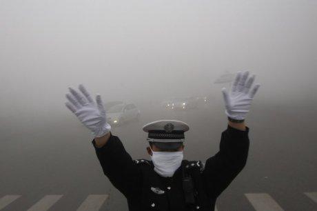 Smog in Harbin, China