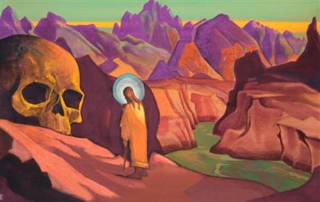 Issa (Jesus) and Giant's Head by Nicholas Roerich (1932)