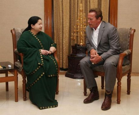 Jayalalithaa & Arnold Schwarzenegger