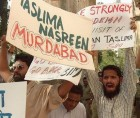 Muslims protest against Taslima Nasrin