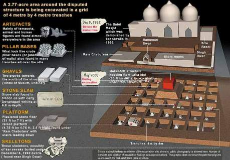 ASI Ayodhya Excavation Graphic