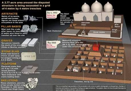 ASI Ayodhya Excavation Graphic