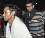 JNU student activists Umar Khalid (R) and Anirban Bhattacharya (L) February 23, 2016