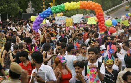 Gay rights march in New Delhi