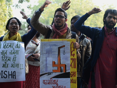 AISA anti-national protest at JNU