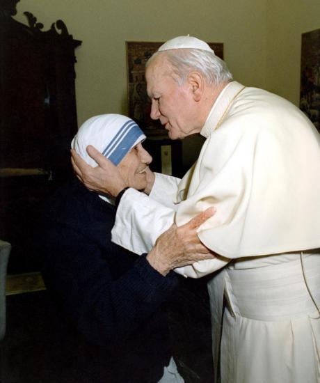Pope John Paul II & Mother Teresa