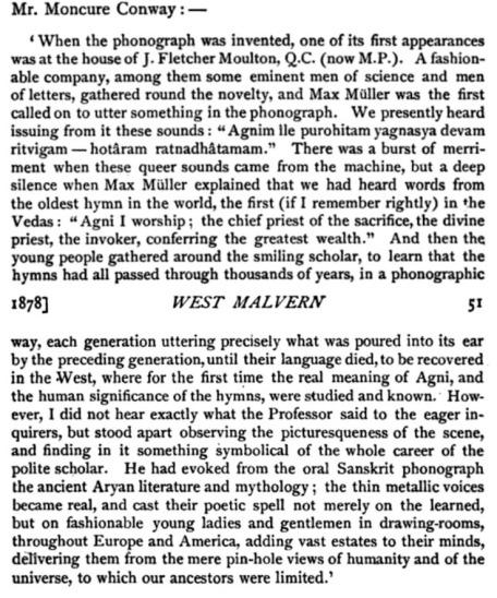 Max Muller Phonograph Record