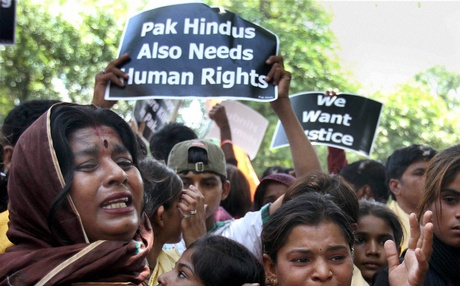 Pakistani Hindus Protest
