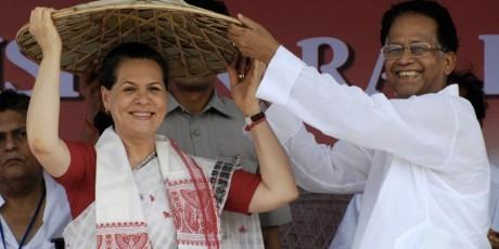 Sonia Gandhi & Tarun Gogoi
