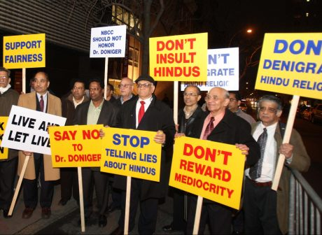 Hindus protest the disparagement of Hinduism