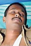 Sub-inspector of police Kalidas, who shot dead Syed Mohamed in the SP Pattinam police station here, was on Wednesday placed under suspension on the orders of SP Mylvahanan.