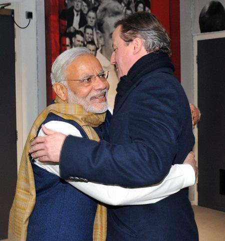 Narendra Modi & David Cameron