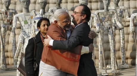 Narendra Modi & François Hollande