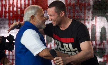 Narendra Modi & Hugh Jackman