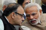 Prime Minister Narendra Modi with Finance Minister Arun Jaitley