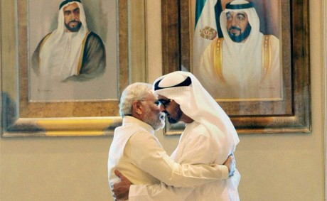 Narendra Modi & Mohammed bin Zayed Al Nahyan