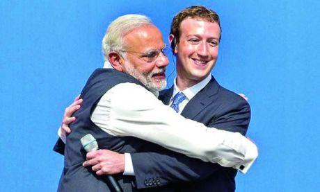Narendra Modi & Mark Zukerberg