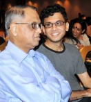 Narayana Murthy with son Rohan