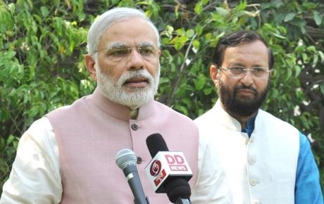 Narendra Modi & Prakash Javadekar