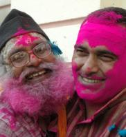 Muslims and Hindus play Holi