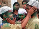 Muslims play Holi in Lucknow