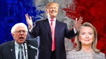 Sanders, Trump, and Clinton