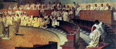 Cicero denounces Catiline in the Senate