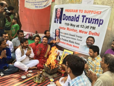 Homa for Donald Trump by the Hindu Sena, New Delhi (May 11, 2016).