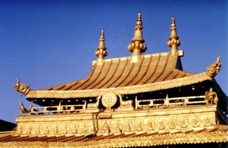 Roof of the Jokhang Temple, Lhasa