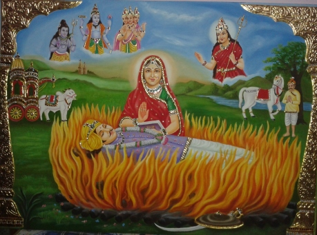 Tanjore painting of a Rani Sati