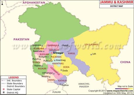 Jammu & Kashmir Map