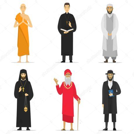 Priest, Rabbi, Mullah, Monk, and Sadhu
