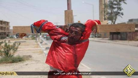 A Daesh (ISIS) Crucifixion