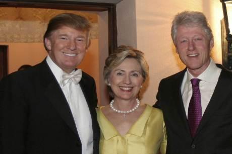 Donald Trump, Hillary & Bill Clinton