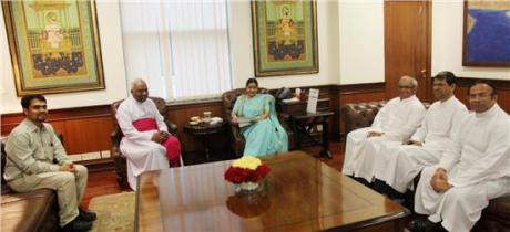 Sushma Swaraj has been chosen by Modi Sarkar to represent India at the Vatican on September 4th.