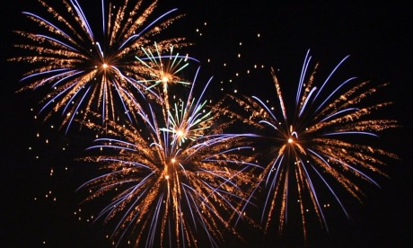 Fireworks at Kerala temple festival
