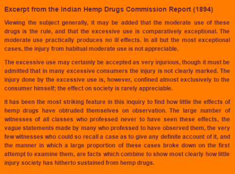 Excerpt from the Indian Hemp Drugs Commission Report (1894)