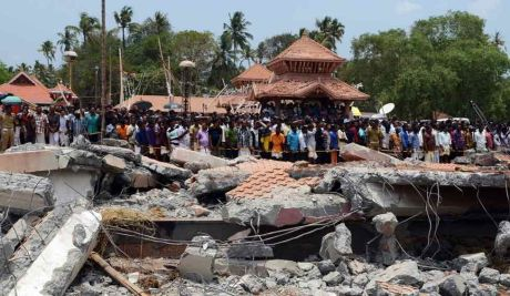 Accident caused by fireworks in Puttingal Devi Amman Temple of Paravur, Kerala