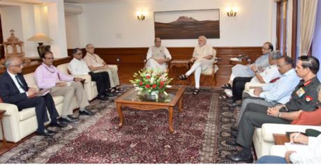 Narendra Modi, Rajnath Singh, Arun Jaitley, Manohar Parrikar & top officials