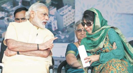 Narendra Modi & Mehbooba Mufti