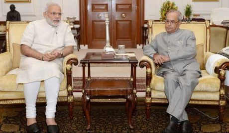 Narendra Modi & Pranab Mukherjee
